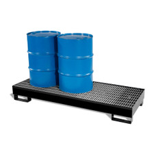 3-Drum Inline Economy Steel Pallet - Black Diamond (9003-BD)