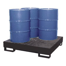 4-Drum Economy Steel Pallet - Black Diamond (9004-BD)