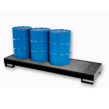4-Drum Inline Economy Steel Pallet - Black Diamond (9005-BD)