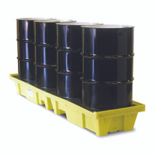 4 Drum Low-Profile In-Line Poly-SpillPallet