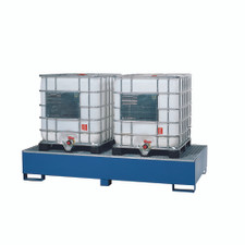 Double IBC Tote Steel Spill Containment Pallet