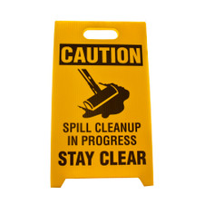 Spill Caution Sign