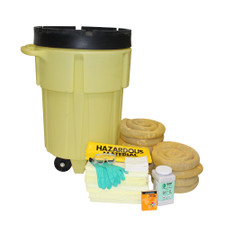 95 Gallon Wheeled Poly-SpillPack Spill Kit - Aggressive