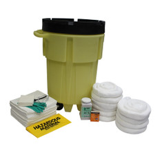 95 Gallon Wheeled Poly-SpillPack Spill Kit - Oil Only
