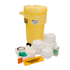 50 Gallon Wheeled Overpack Salvage Drum Spill Kit - Oil Only (1352-YE)