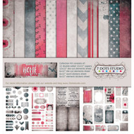 7 Dots Studio, Homegrown Collection, collection kit, 12 x 12, inc stickers, elements sheet, Scrapify, Australia