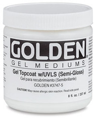 Golden Artist Colors, Golden Gel Medium, Gel Topcoat, semi gloss, 8oz, Scrapify, Australia