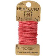 Hemptique Hemp Cord 20lb 20' sunset coral, Scrapify, Australia