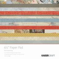 Kaisercraft  6.5in, Paper Pad, Now Boarding, Design paper, 40 Page Pad, 2x12 sheets Designed Paper, 12xSpecialty Papers, 4xDie Cut Pages, Scrapify, Australia