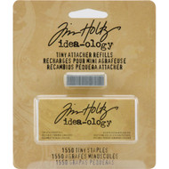 "Tim Holtz Idea-ology, Tiny Attacher Refill Staples .25"" 1,550/Pkg"
