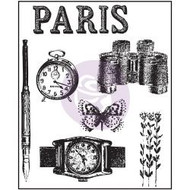 "Prima Marketing,  The Archivist Clear Stamps 2.5""X3"" Paris, Scrapify, Australia"