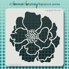 Donna Downey Signature Series Stencils, Marigold, 8.5 x 8.5 in, Scrapify, Australia