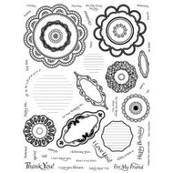 Spellbinders precut, unmounted rubber stamps, Blossom Stackers, Scrapify, Australia
