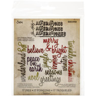 Sizzix Thinlits Dies By Tim Holtz - Holiday Words - Script (17 pieces), Scrapify, Australia