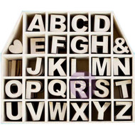 "Prima Marketing Laser-Cut Wood Alphas In A Shaped Box - House With 1"" Letters & Shapes 168/Pkg, Scrapify, Australia"