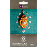 Prima Marketing, Relics & Artifacts - Dresden Paper Trims, Bordure - Silver Star Chain, (172 Pieces)  , Scrapify, Australia