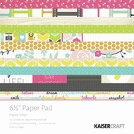 Kaisercraft  6.5in, Paper Pad, Happy Snaps, Design paper, 2x12 sheets Designed Paper, 12xSpecialty Papers, 4xDie Cut Pages, Scrapify, Australia