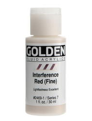 Golden, Fluid Acrylics, Artist Quality, Interference, Red (Fine) 2469,1 fl.oz, Scrapify, Australia