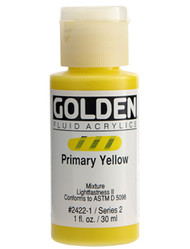 Golden, Fluid Acrylics, Artist Quality, Primary Yellow, 2422, 1 fl.oz, Scrapify, Australia