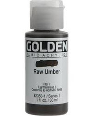 Golden, Fluid Acrylics, Artist Quality, Raw Umber #2350 1 fl.oz