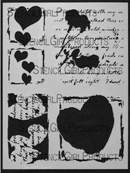 Valentine Of Mine stencil was designed by Margaret Applin for Stencil Girl