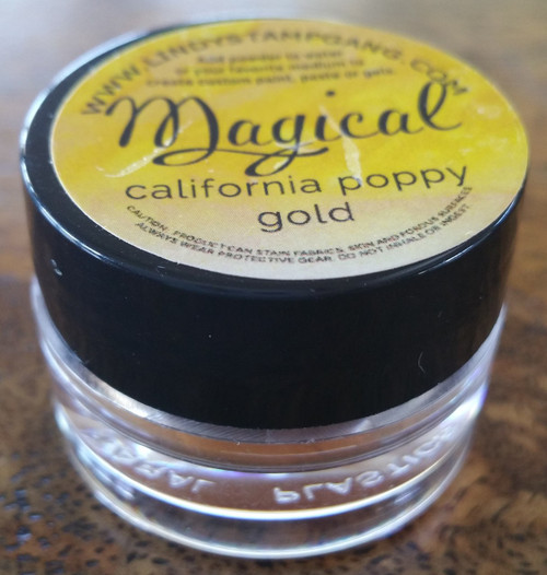 Lindy's Stamp Gang - Pigment Powders - Magicals - california poppy gold, Scrapify, Australia