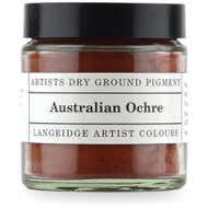 Langridge Dry Ground Pigment 120ml - Australian Ochre, Scrapify, Australia