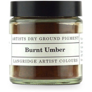 Langridge Dry Ground Pigment 120ml - Burnt Umber, Scrapify, Australia