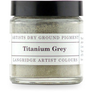 Langridge Dry Ground Pigment 120ml - Titanium Grey Gray, Scrapify, Australia