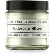 Langridge Dry Ground Pigment 120ml - Irridescent Silver, Scrapify, Australia