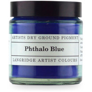 Langridge Dry Ground Pigment 120ml - Phthalo Blue (Green Shade), Scrapify, Australia