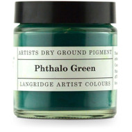 Langridge Dry Ground Pigment 120ml - Phthalo Green, Scrapify, Australia