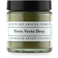 Langridge Dry Ground Pigment 120ml - Terre Verte Deep, Scrapify, Australia