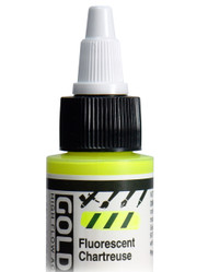 Golden, High Flow Acrylics, Acrylic Inks, Artist Quality, Fluorescent Chartreuse, #8567-1, 1fl oz, Scrapify, Australia