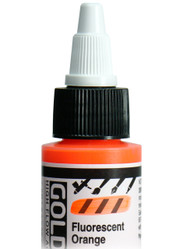 Golden, High Flow Acrylics, Acrylic Inks, Artist Quality, Fluorescent Orange, 1fl oz, Scrapify, Australia