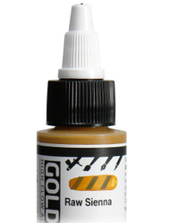 Golden, High Flow Acrylics, Acrylic Inks, Artist Quality, Raw Sienna, 1fl oz, Scrapify, Australia
