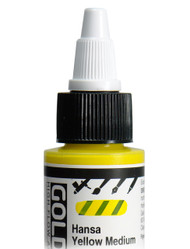 Golden, High Flow Acrylics, Acrylic Inks, Artist Quality, Hansa Yellow Medium, 1fl oz, Scrapify, Australia