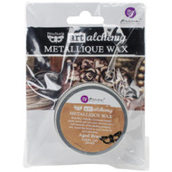 Prima Finnabair Art Alchemy, Metallique Wax  .68 fl oz, 20 ml, Aged Brass, Scrapify, Australia