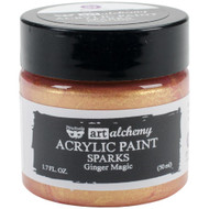Prima Finnabair Art Alchemy, Sparks Acrylic Paint, 1.7 fl oz, Ginger Magic, Scrapify, Australia