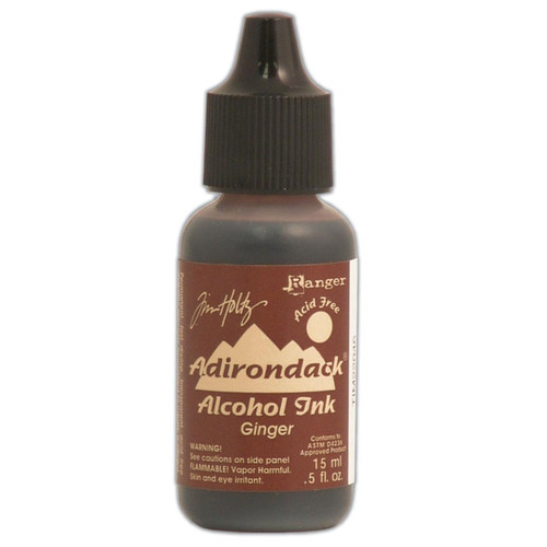 Tim Holtz, Ranger, Adirondack, Alcohol Ink, Ginger, 15ml., Scrapify, Australia