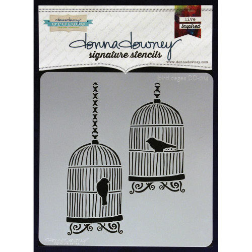 Donna Downey Signature Series Stencils - Bird Cages