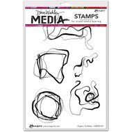 "Dina Wakley Media Cling Stamps 6""X9"" organic Scribbles, 5 stamps, Scrapify, Australia"