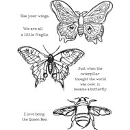 "Dina Wakley Media - Scribbly Insects, Cling Stamps 6""x9"", Scrapify, Australia"