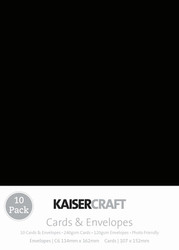 Kaisercraft cards & envelopes 114 x 162 mm, (C6) White, pk 10, CD511 , Scrapify, Australia