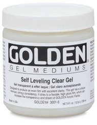 Golden Gel Medium,Self Leveling clear gel , 8oz Jar , Scrapify, Australia