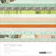 Kaisercraft  6.5in, Paper Pad, Honey Chai, Design paper, 40 Page Pad, 2x12 sheets Designed Paper, 12xSpecialty Papers, 4xDie Cut Pages, Scrapify, Australia