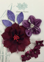 Green Tara, Fabric Flowers 'Berry Flower' Pack, Scrapify, Australia