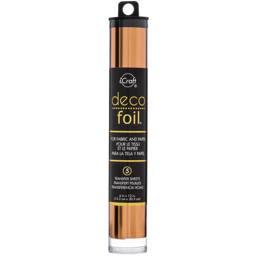 "Deco Foil Transfer Sheets 6""X12"" 5/Pkg, Copper, Scrapify, Australia"