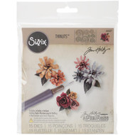 Sizzix Thinlits Dies By Tim Holtz 15/Pkg, Tiny Tattered Florals, Scrapify, Australia