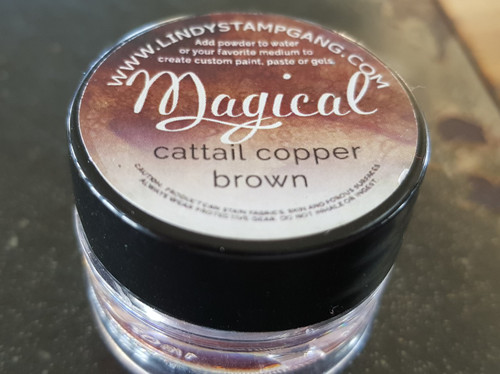 Lindy's Stamp Gang - Pigment Powders - Magicals - cattail copper brown, Scrapify, Australia
